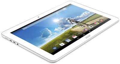 Spesifikasi Acer Iconia Tab A3-A20    Acer Iconia Tab A3-A20 memberikan dukungan penuhuntuk resolusi layar 1280 x 800 pixel serta memberikan kepadatan yang cukup minim dengan adanya ~149 ppi pixel. Acer Iconia Tab A3-A20 terdapat adanya pelindung layar dengan Corning Gorilla Glass 4 serta terdapat oleophobic cating yang akan membantu dalam melindungi layar tablet supaya tidak ada tergores, dan bila tidak sengaja tergores maka tidak meninggalkan bekas goresan tersebut. Perlu Sobat gadgetketahui dengan adanya tipe layar yang mampu memberikan dukungan LED backlit IPS LCD berkapasitas layar sentuh penuh serta terdpaat 16 juta warna yang akan mewarnai tampilan dalam layar tablet Acer Iconia Tab A3-A20.   Sistem operasi Acer Iconia Tab A3-A20 masih mendukung versi Android v4.4 KitKat yang akan membantu untuk mendukung berbagai macam aplikasi dalam tablet tersebut. dalam sistem operasi Acer Iconia Tab A3-A20 maka mendukung juga untuk perangkat pendukung untuk membantu kinerja OS tersebut. Dukungan tersebut terdapat chipset dengan tipe Mediatek MT8127, prosesor yang memiliki kecepatan 1.3GHz serta tipe pendukung Quad Core yang lebih memberikan kesempurnaan dalam kinerja tablet tersebut, apalagi juga didukung dengan GPU Mali-450MP4 yang akan menampilkan 3D lebih baik.    Memori internal Acer Iconia Tab A3-A20 mendukung kapasitas 16GB untuk penyimpanan aplikasi maupun data bawaan dalam tablet. Acer Iconia Tab A3-A20