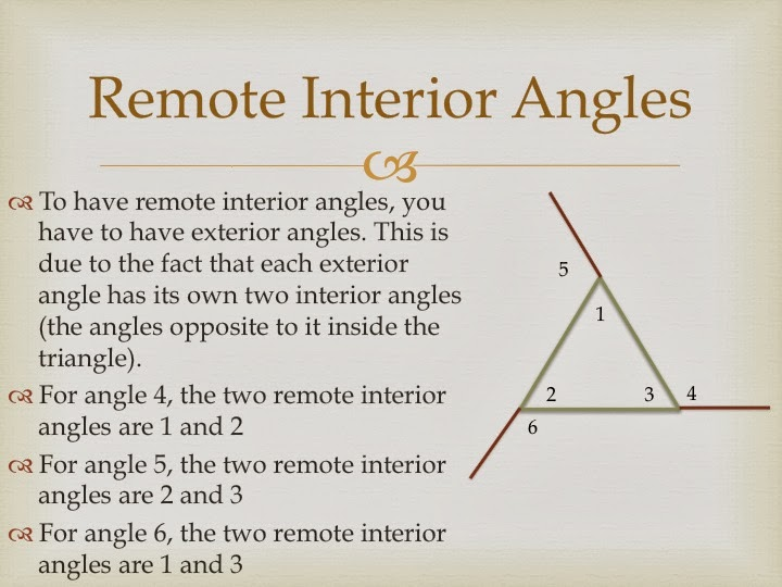 Image Result For Remote Interior Angle Definition