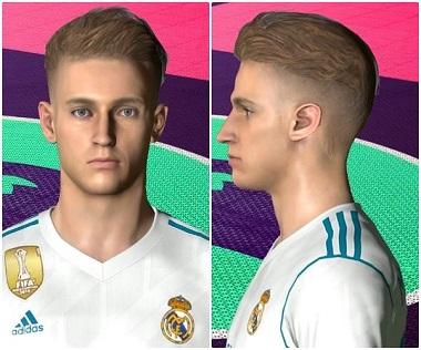 احدث وجه للاعب ماركوس يورينتي لاعب ريال مدريد 2018 لـPES 2017