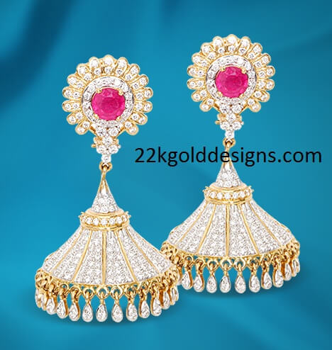GRT Simple Diamond Jhumkas