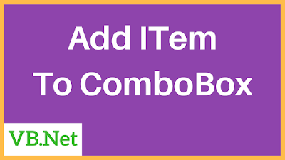 vbnet add items to combobox
