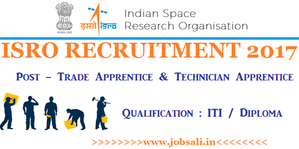 ISRO Careers, ISRO Application form, ISRO Apprentice Recruitment 2017