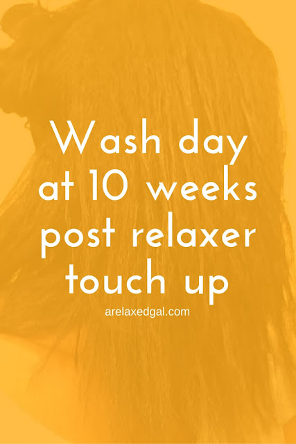 See the results of an overnight deep conditioning during my wash day at 10 weeks post relaxer touch up. | arelaxedgal.com