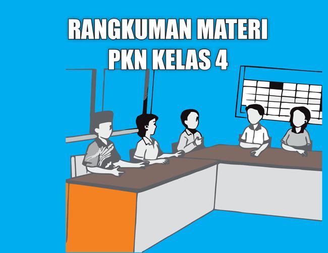 Rangkuman Materi PKn Kelas 4 SD/MI Semester 1/2 Lengkap
