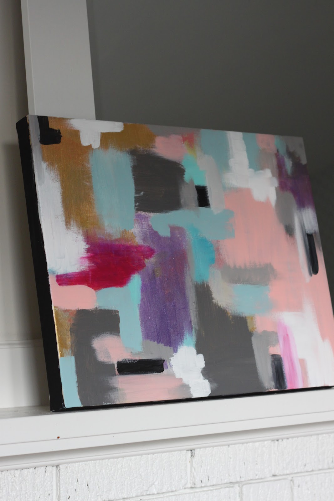 modern jane: DIY Abstract Art.