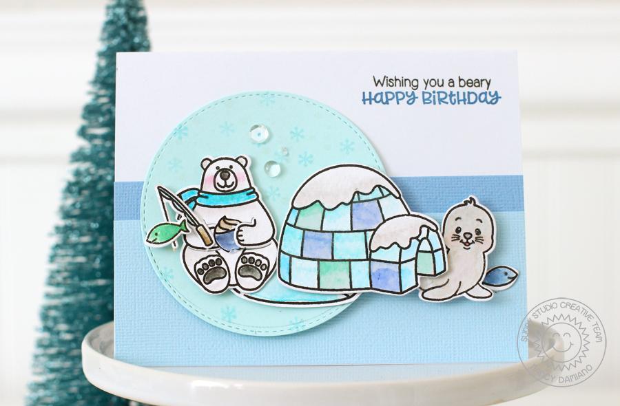 sunny studio polar playmates playful polar bear winter. Black Bedroom Furniture Sets. Home Design Ideas