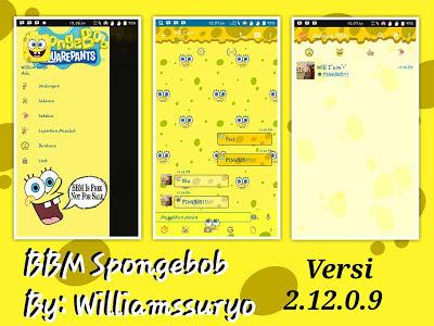 BBM Themes Animasi Spongebob 2.12.0.9 Apk