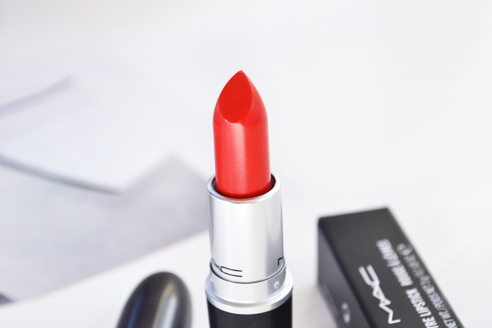5 Alarm is a beautiful sheer red lipstick from MAC