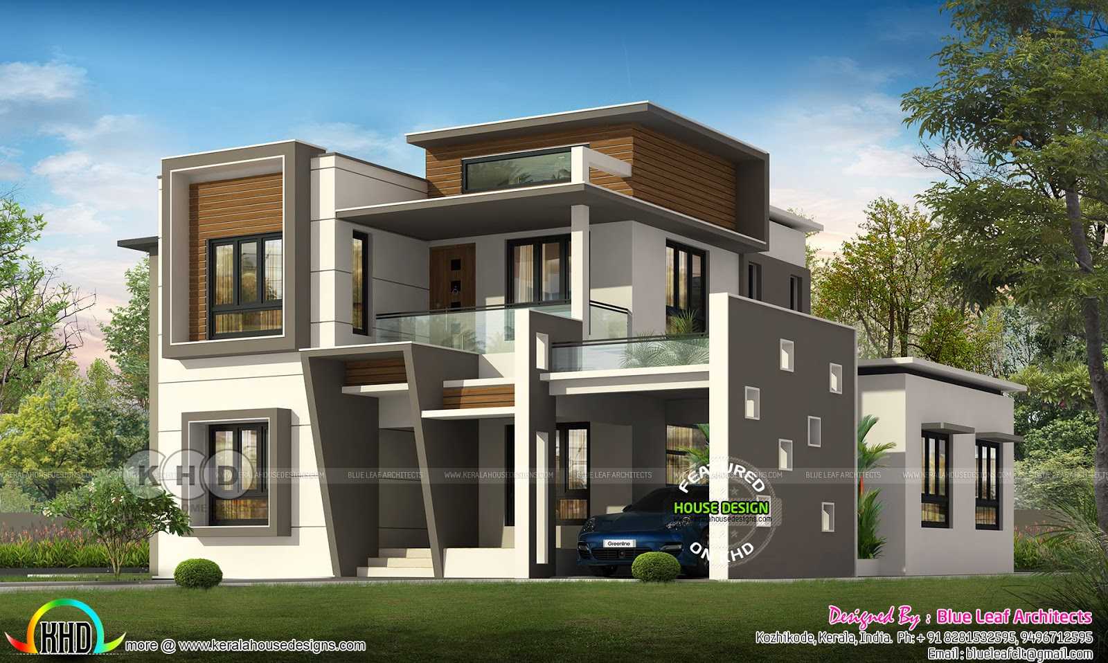 Modern Flat Roof Contemporary House 2400 Sq Ft Kerala Home Design And Floor Plans 8000 Houses