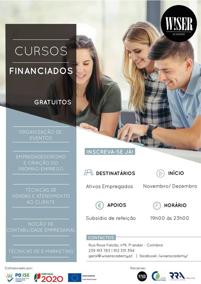 Cursos gratuitos em Coimbra