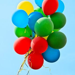 Luftballons Blauer Himmel Sommer