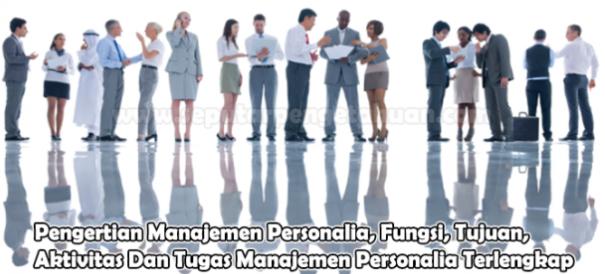 Aktivitas Dan Tugas Manajemen Personalia