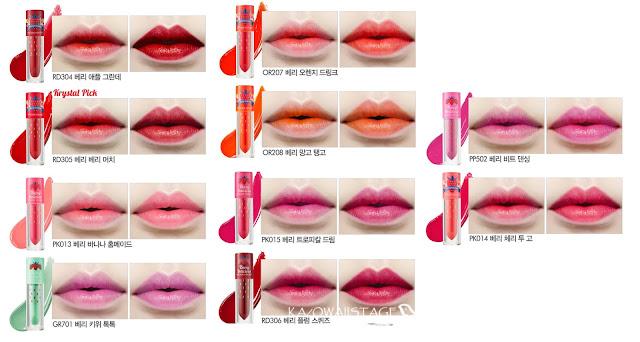 labiales líquidos tonos