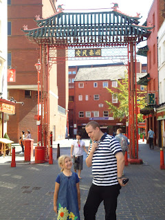 Chinatown London, with Top Ender and Daddy mocking Mummy