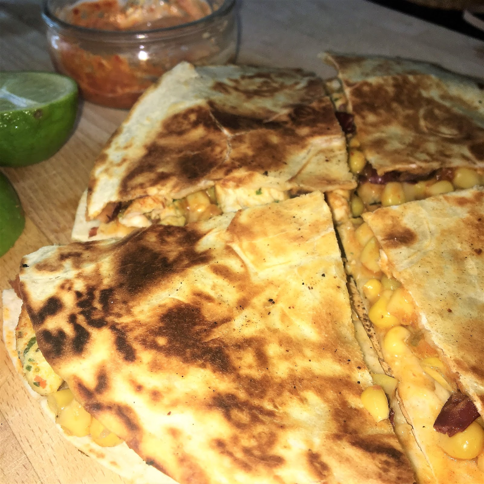 Gousto Refried Bean & Corn Quesadillas