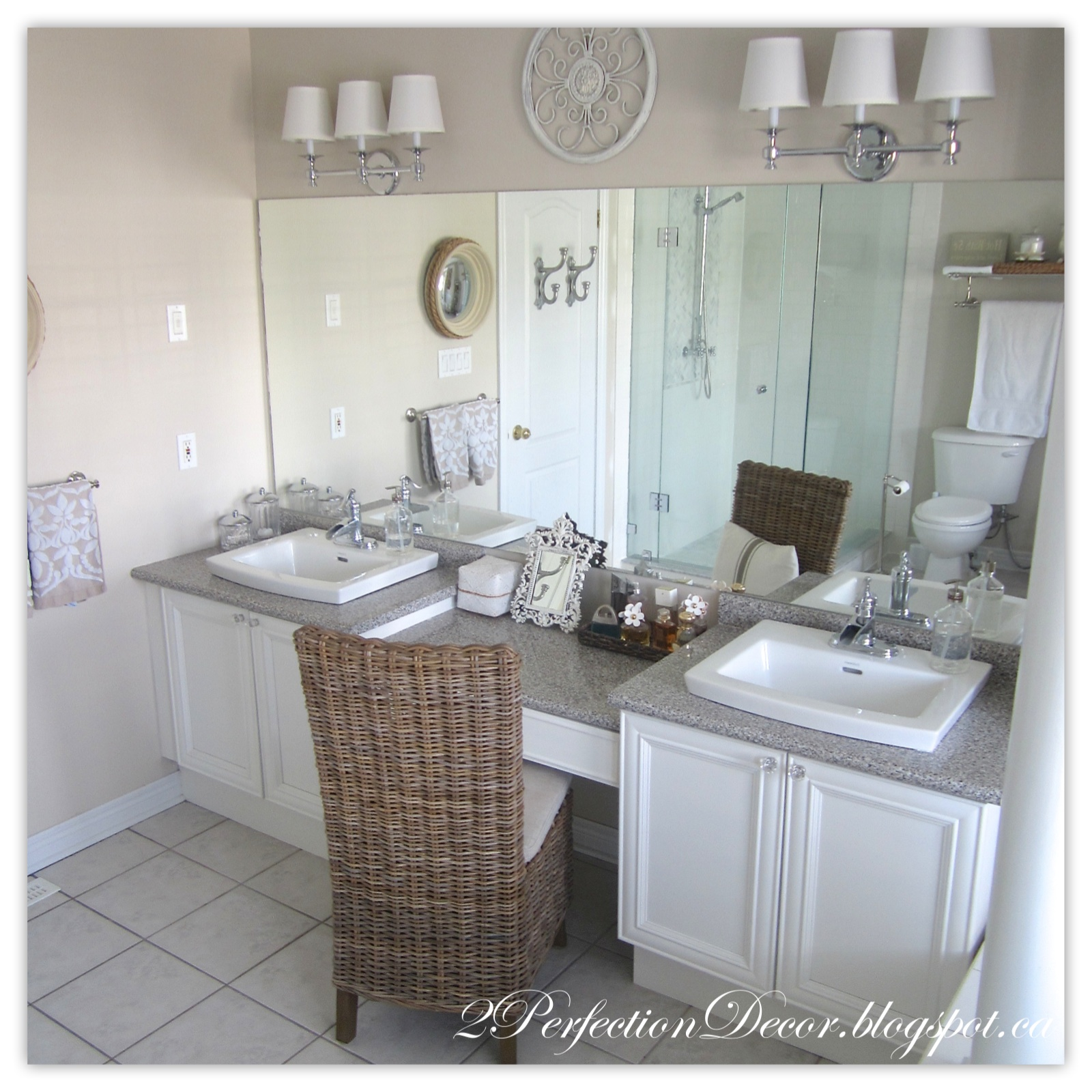 2Perfection Decor: Updating old Bathroom Sinks.. while re ...