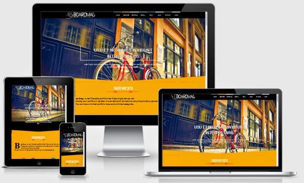 boardmag responsive parallax blogger template king gecko template