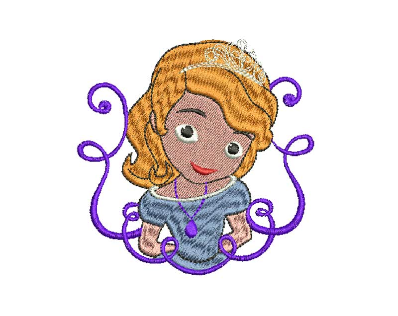 Bordado Gratis Princesa Sofía para bordados infantiles
