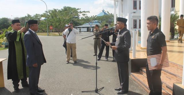Lantik Sekda Morowali, Anwar Hafid Umumkan Pencopotan 13 Pejabat