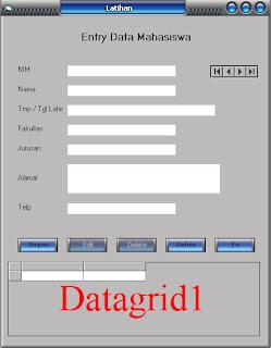 Cara Menampilkan Isi Data Tabel Di Datagrid Dengan Visual Basic 6.0