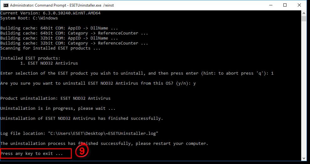 كيفية إلغاء تثبيت ESET 11 على نظام التشغيل Windows 10 بالطريقة الصحيحة