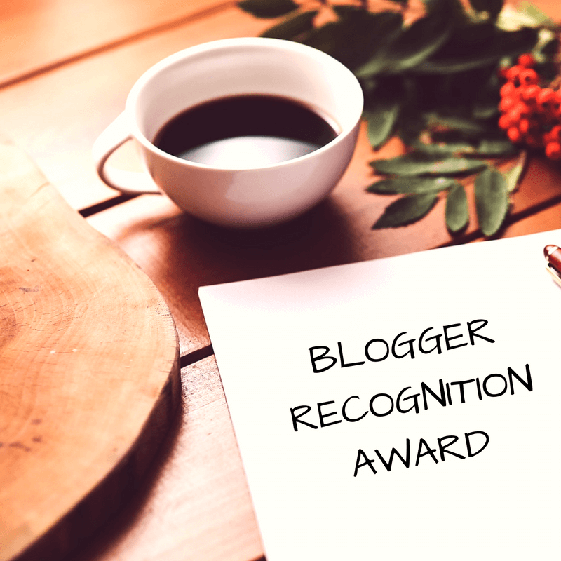 Blogger Recognition Award 1