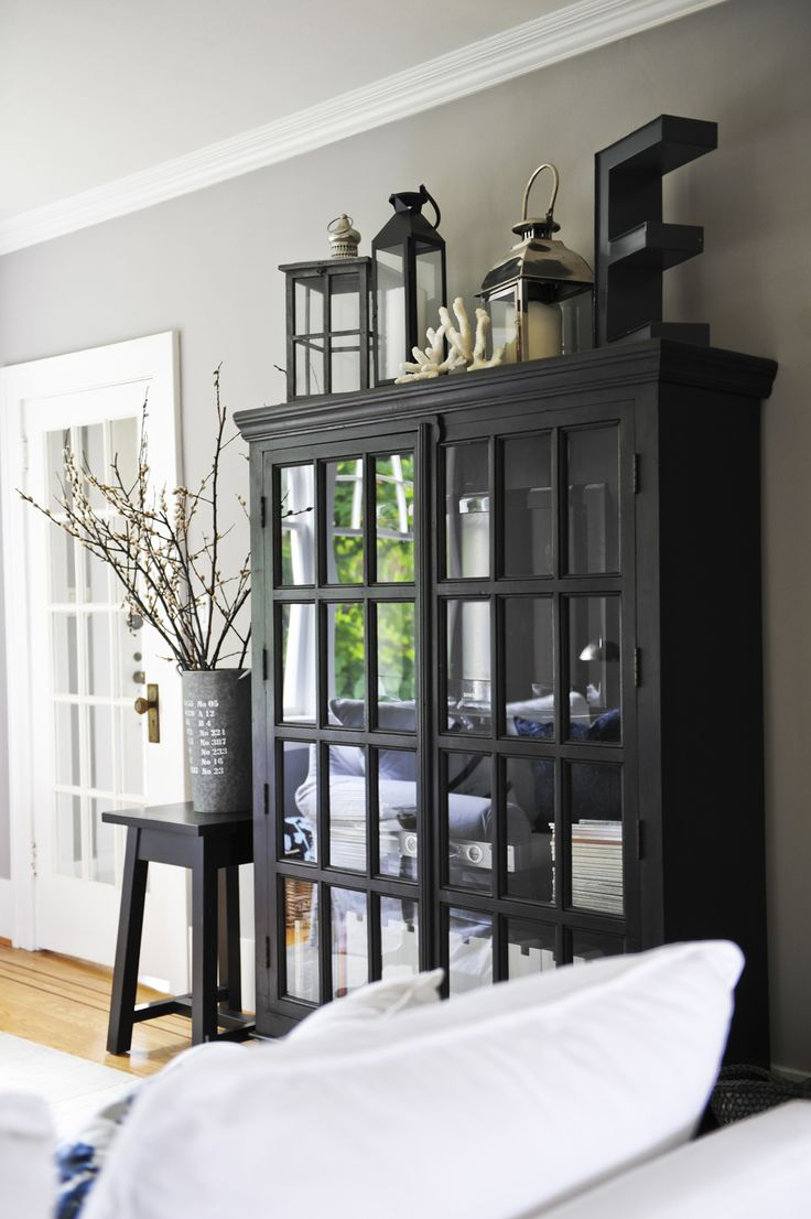 dining room armoire | Designing Home: Thoughts on decorating the top of an armoire