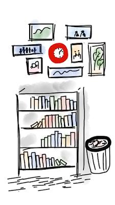 Study and bookshelf