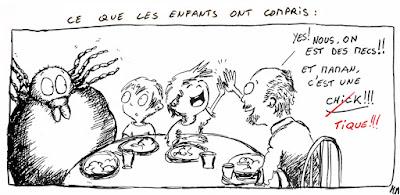 illustration repas 'vie de famille' 'bilinguisme' tique