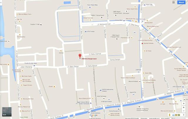 lokasi skb bjm di google maps