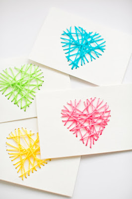 http://www.hellowonderful.co/post/MAKE-STRING-HEART-YARN-CARDS