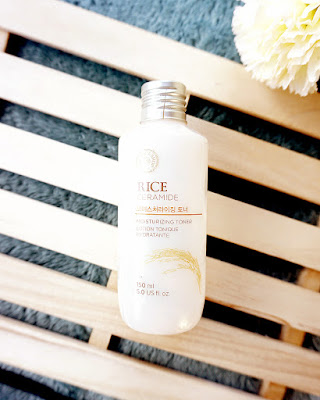 The Face Shop Rice Ceramide Moisturizing Toner is truly hydrating and gives the skin a radiant glow.