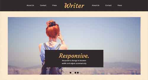 Writer Blogger Template