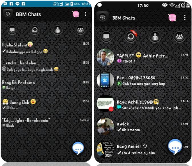 Droid Chat! v4.7.10 Batik Theme Based BBM v2.9.0.45 Only os 4.0+