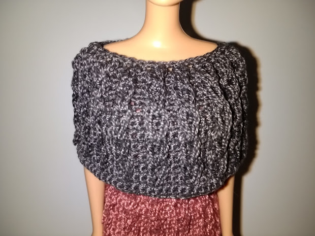 Crochet Barbie Belly Button Body Type Cable Capelet