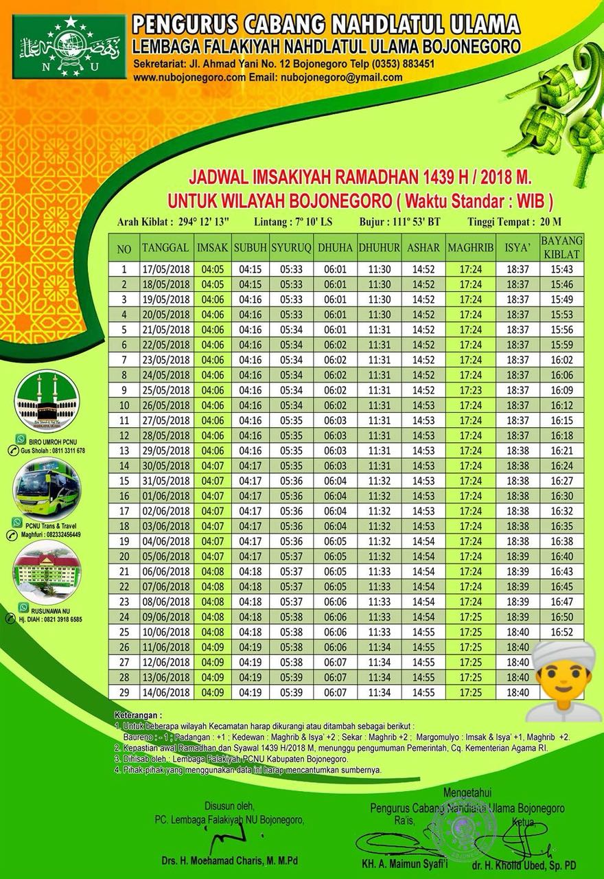 Jadwal Imsakiyah Ramadhan 1439 H / 2018 M untuk Wilayah ...