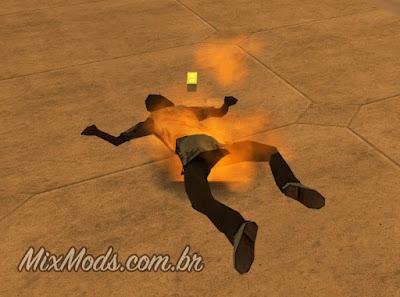 gta sa san mod cleo fire ped fix pedestres fogo queimando
