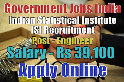 Indian Statistical Institute ISI Recruitment 2017 Apply Online