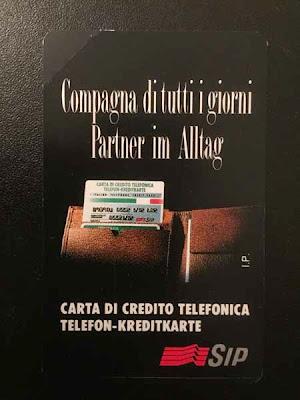 Carta (o scheda) telefonica Sip bilingue italiano/tedesco
