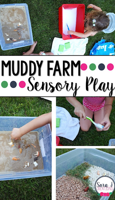 Ideas for using sensory bins throughout the year. Includes bins for fall, winter, spring, summer and bins you can use all year long with toddlers, preschoolers and kindergarteners.