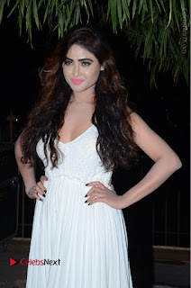 Telugu Actress Model Sony Charishta Pos in White Long Dress at Nanna Nenu Na Boyfriends Audio Launch  0014.JPG