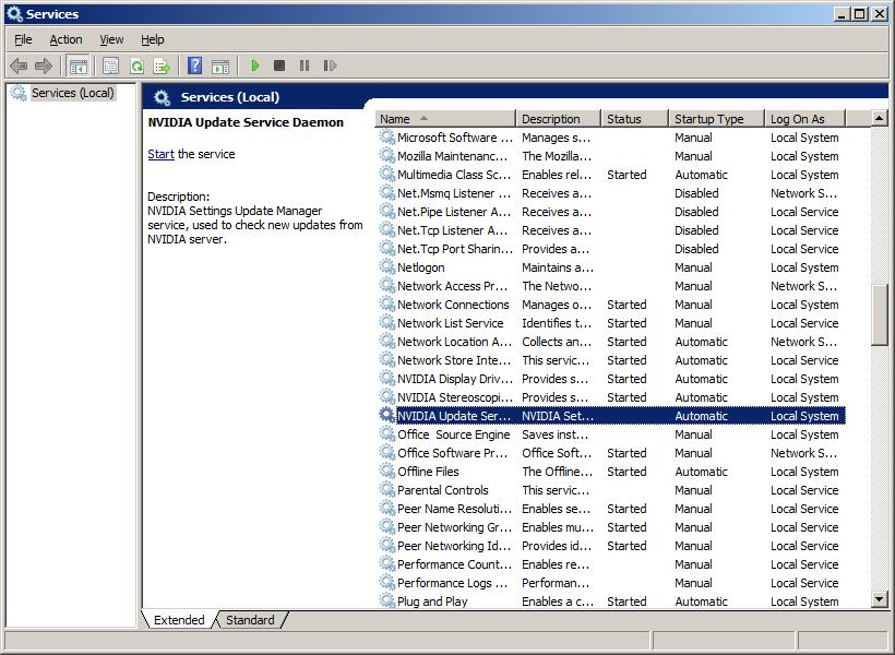 Al's Tech Tips: Windows 7: Error 7038: The nvUpdatusService service