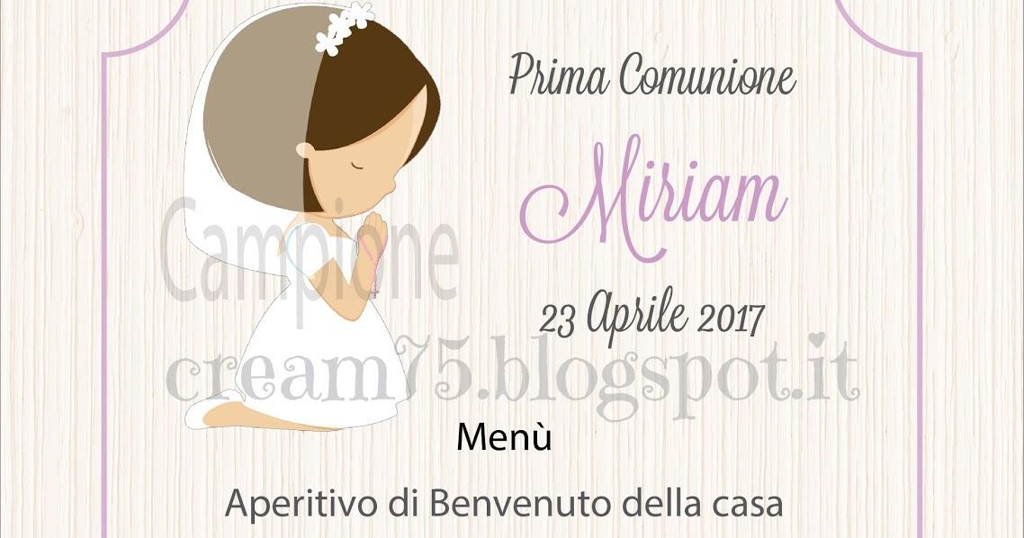 My Sweet Blog Menù Digitale Per La Prima Comunione