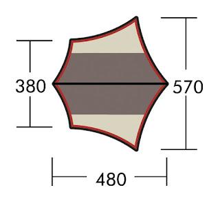 システムタープ ヘキサDX 上面図