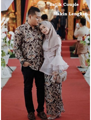 baju batik couple kombinasi brokat