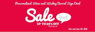 Personalized Wine and Wiskey Barrel Sign Deal from Arttowngifts