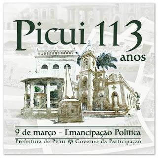 Definidas atrações da festa dos 113 anos de Emancipação Política de Picuí