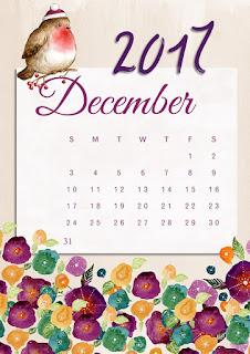 December 2017 calendar image