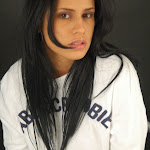 Andrea Rincon, Selena Spice Galeria 19: Buso Blanco y Jean Negro, Estilo Rapero Foto 103