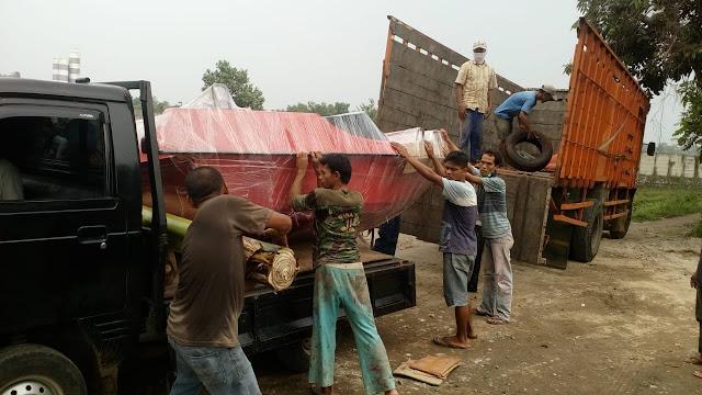 Pembuatan perahu kano double